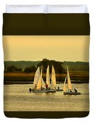 Sailing Practice Duvet Cover