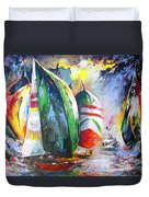 Sailing Regatta Duvet Cover