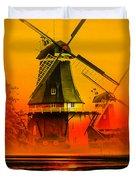 Sailing Romance Windmills Duvet Cover