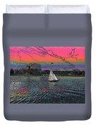 Sailing South Lake Union Duvet Cover