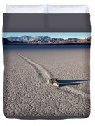 Sailing Stones Collide On The Racetrack Playa  Duvet Cover