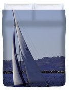 Sailing Stonington Harbor Duvet Cover
