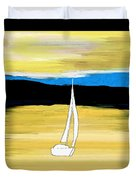 Sailing Sunset Duvet Cover