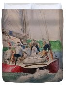 Sailing Teamwork Duvet Cover