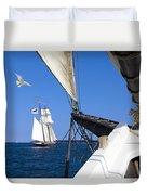 Sailing The Atlantic Duvet Cover