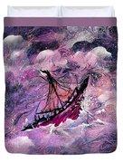 Sailing The Heavens Duvet Cover