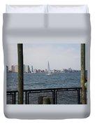 Sailing The Hudson River 1 Duvet Cover