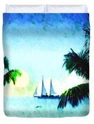 Sailing The Keys Duvet Cover