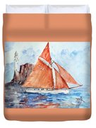 Sailing The Open Sea... Duvet Cover