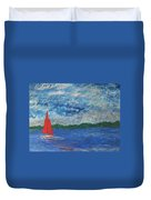 Sailing The Wind Duvet Cover