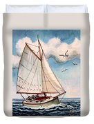 Sailing Through Open Waters Duvet Cover