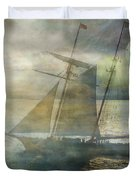 Sailing To The Moon Duvet Cover