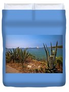 Sailing Waterfront Of Prvic Island View Duvet Cover