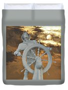 Sailor In Coming Storm Duvet Cover