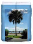 Sails And Palm Duvet Cover