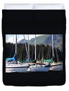Sails Of Seldovia Duvet Cover