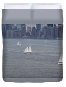 Sails On The Harbor No. 2 Duvet Cover