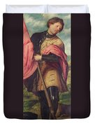 Saint Alexander A Panel From The Altarpiece The Nativity With Saints Duvet Cover