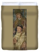 Saint Ambrose With Ambrosius Van Engelen   Duvet Cover