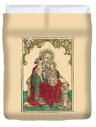 Saint Anne, The Madonna And Child, And A Franciscan Monk Duvet Cover