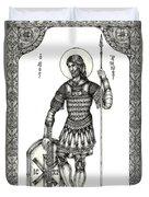 Saint Artemius Duvet Cover