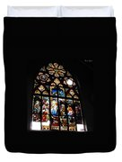 Saint Augustine Stained Glass Duvet Cover