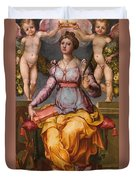 Saint Catherine Of Alexandria Crowned By Two Angels Duvet Cover