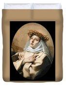 Saint Catherine Of Sienna Duvet Cover