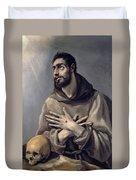 Saint Francis In Ecstasy Duvet Cover