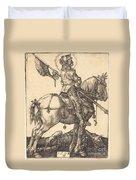 Saint George On Horseback Duvet Cover