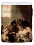 Saint Isabel Of Portugal Healing The Wounds Of A Sick Woman Duvet Cover