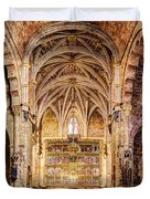 Saint Isidore - Romanesque Temple Altar And Vault - Vintage Version Duvet Cover