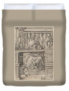 Saint Jerome In His Study Duvet Cover
