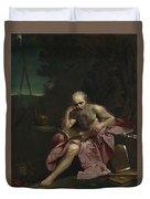 Saint Jerome In The Desert Duvet Cover