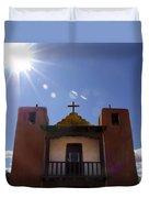 Saint Jeromes Chapel Taos Pueblo Duvet Cover
