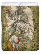 Saint John On The Island Of Patmos Receives Inspiration From God To Create The Apocalypse Duvet Cover