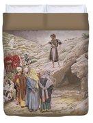 Saint John The Baptist And The Pharisees Duvet Cover