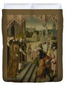 Saint Lawrence Before The Prefect Duvet Cover