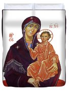 Saint Mary With Baby Jesus Duvet Cover