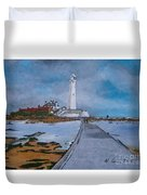 Saint Mary's Lighthouse Duvet Cover