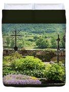Saint Michael Church Cemetery Duvet Cover