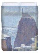 Saint Michel D Aiguilhe Haute Loire Under Snow 1890 Duvet Cover