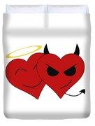 Saint Or Evil Duvet Cover