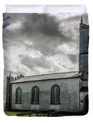 Saint Patricks Church On The Hill Of Tara Duvet Cover