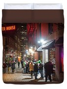 Saint Patrick's Day On Marshall Street Boston Ma Duvet Cover