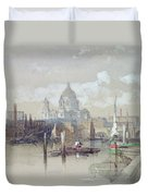 Saint Pauls From The River Duvet Cover by David Roberts