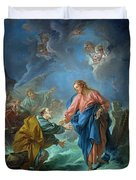 Saint Peter Invited To Walk On The Water Duvet Cover