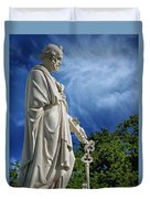Saint Peter With Keys To Heaven Duvet Cover