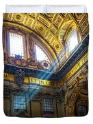Saint Peter's Beams Of Light Duvet Cover