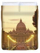 Saint Peters Cathedral In The Vatican Duvet Cover